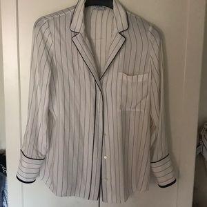 Frame %100 silk white shirt